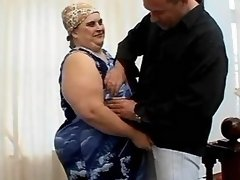 Megafat busty housewife seduces man