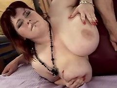 Chubby lady with large boobs fucked