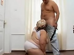 Obese big assed woman does blowjob