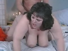 Plump brunette w large tits screwed