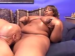 Black man licking fat ebony whore