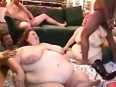 Fat sluts fucked by numerous guys