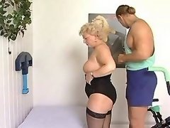Chubby mature licked and sucks cock