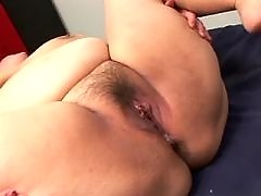 Lusty asian fatty gets cum in group
