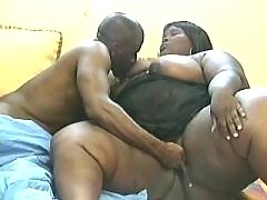 Black guy licks fat chocolate pussy